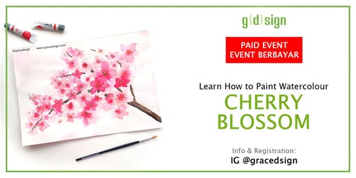 Learn How to Paint Cherry Blossom Watercolour (TIDAK GRATIS)