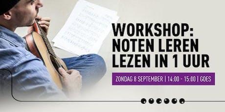 Workshop Noten leren lezen  tickets
