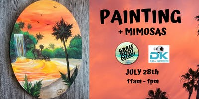 Tropical Getaway | Painting + Mimosas at Dk Play!