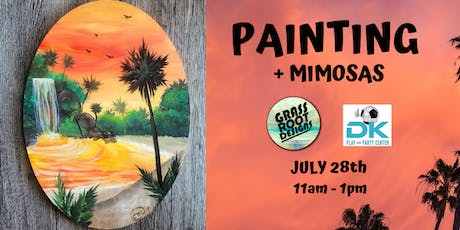Tropical Getaway | Painting + Mimosas at Dk Play! tickets