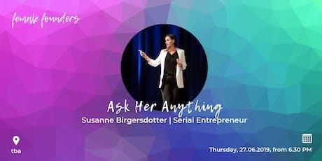 Female Founders Meetup #13 - Susanne Birgersdotter | Serial Entrepreneur tickets
