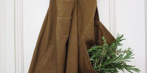 Sew a linen apron // Gwnïwch ffedog liain gyda // with Camille Jacquemart