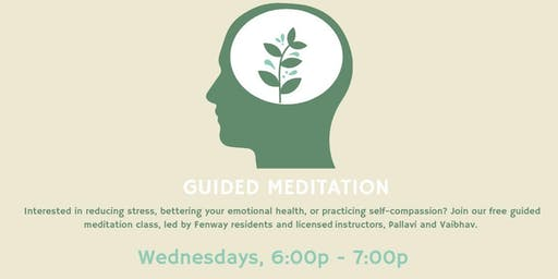 Free Guided Meditation at Fenway Community Center