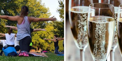 Woman's Pilates and prosecco event
