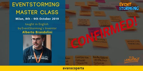 EventStorming Master Class - October 2019 (Milan) tickets