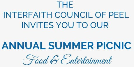 Interfaith Council of Peel Annual Summer Picnic tickets
