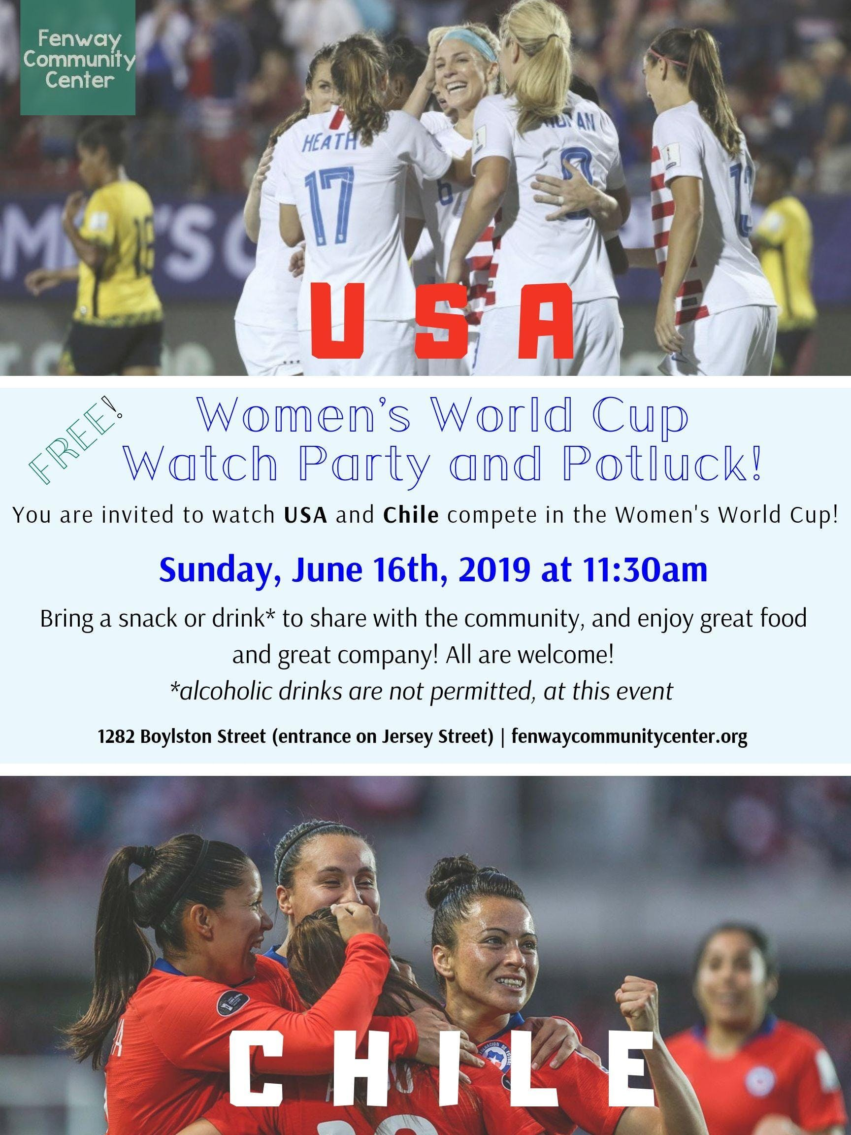 FIFA Women's World Cup Watch Party and Potluck