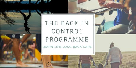 """Back in Control"" - Learn Lifelong Back Care tickets"