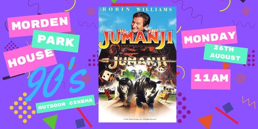 Morden Park House 90's Outdoor Cinema Presents Jumanji