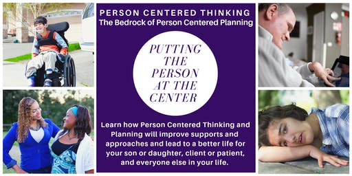 Person Centered Thinking Workshop PCT - 2 Day Course Nov 8 and Nov 15, 2019