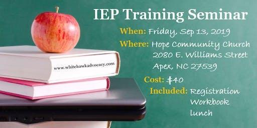 IEP Training Seminar