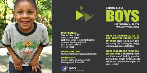 Raising Black Boys Event for Transracial Foster and Adoptive Families
