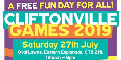Cliftonville Games- Market, Live Music, FREE Childrens activites tickets