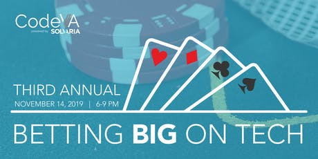 Betting Big On Tech Third Annual Charity Casino Night tickets