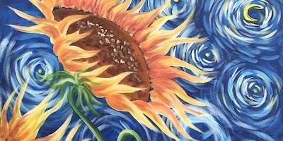 Sunflowers Brush Party - Beaconsfield