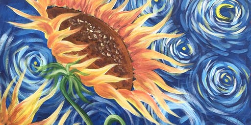 Sunflowers Brush Party - Beaconsfield