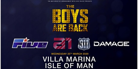 The boys are back! 5ive/A1/Damage/911 (Villa Marina, Isle of Man) tickets