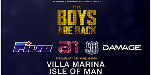 The boys are back! 5ive/A1/Damage/911 (Villa Marina, Isle of Man)