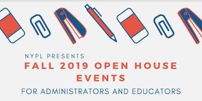 NYPL's Fall 2019 Educators Open House - East Bronx