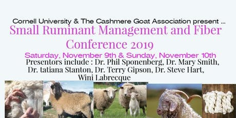 2019 Small Ruminant Management and Fiber Conference  tickets