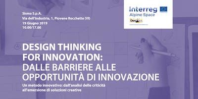 Design Thinking for innovation: dalle barriere alle opportunità di innovazione