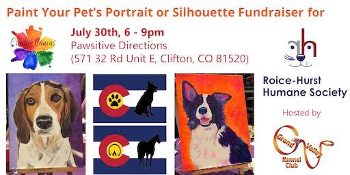 Paint Your Pet or CO Flag Pet Silhouette Fundraiser for Roice Hurst