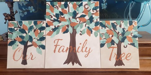 Painting Parties with Angela Howell: Family Tree for One, Two ot Three