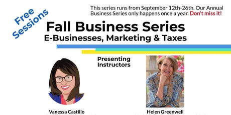 Introduction to Business Taxes (Seminar) - Fall Business Series tickets