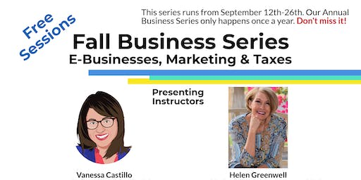 Introduction to Business Taxes (Seminar) - Fall Business Series