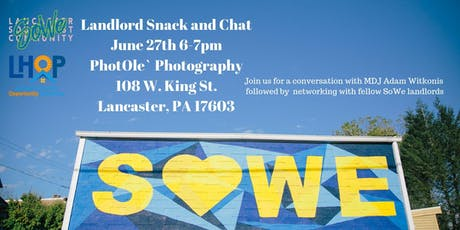 SoWe Landlord Snack and Chat tickets