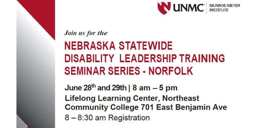 Nebraska Statewide Disability Leadership Training  Seminar Series