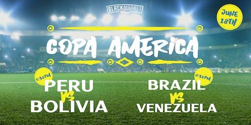 Watch Party Copa America 2019 - Peru vs Bolivia + Brazil vs Venezuela