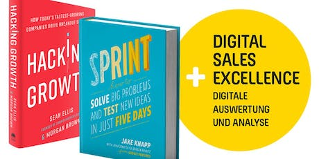 Hacking Growth trifft auf Design Sprint! Und Digital Sales Excellence! BAM! Tickets