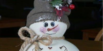 Fall19PF3 - Create a Snowman Gourd - Thurs, 11/14 to 11/21, 9am-12pm
