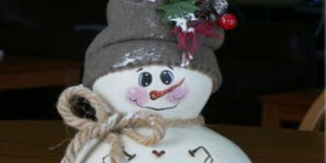 Fall19PF3 - Create a Snowman Gourd - Thurs, 11/14 to 11/21, 9am-12pm