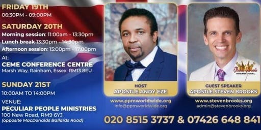 LONDON ENGLAND GLORY CONFERENCE