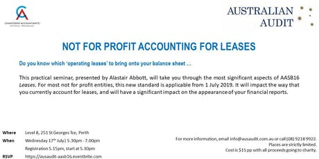 Not For Profit Accounting for Leases tickets