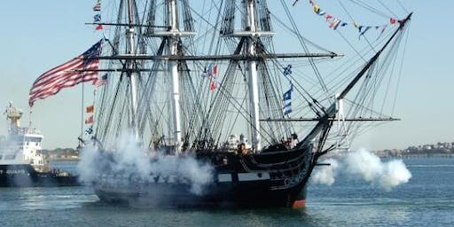 Watch the USS Constitution turnaround voyage from Nantucket Lightship