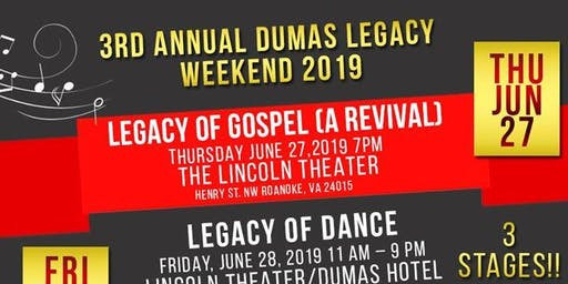 Annual Dumas Legacy Weekend 2019