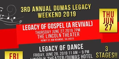 Annual Dumas Legacy Weekend 2019