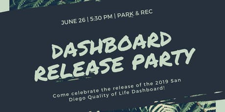 San Diego Regional Quality of Life Dashboard Release Party tickets