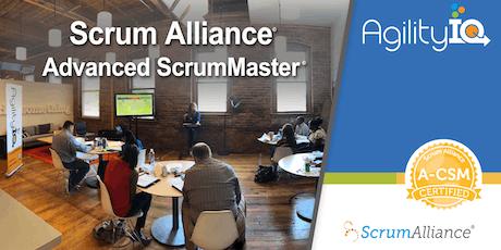 Certified Advanced Scrum Master Training (A-CSM) tickets