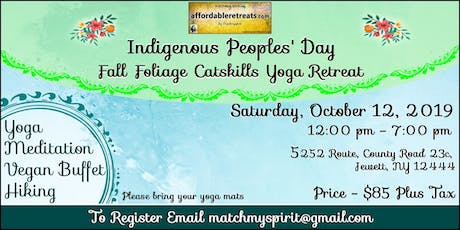 Indigenous Peoples' Day Fall Foliage Catskills Retreat tickets