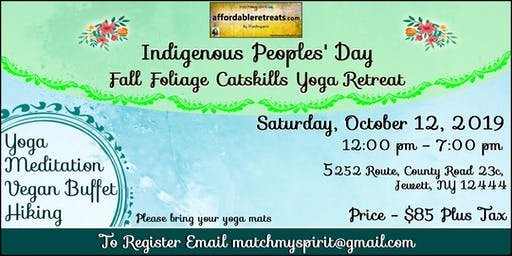 Indigenous Peoples' Day Fall Foliage Catskills Retreat