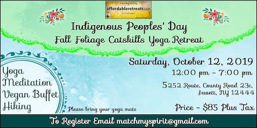 Indigenous Peoples' Day Fall Foliage Catskills Retreat