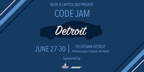 Bose & Capitol360 Present: Code Jam Detroit tickets