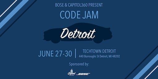 Bose & Capitol360 Present: Code Jam Detroit