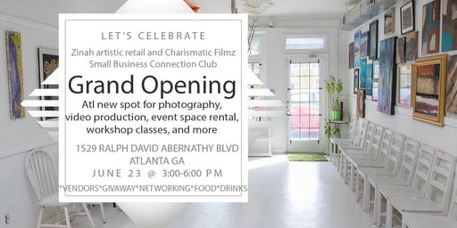 Grand Opening of Charismatic Filmz with Zinah artistic. retail networking and vendor event