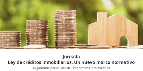 Ley de créditos inmobiliarios. Un nuevo marco normativo entradas