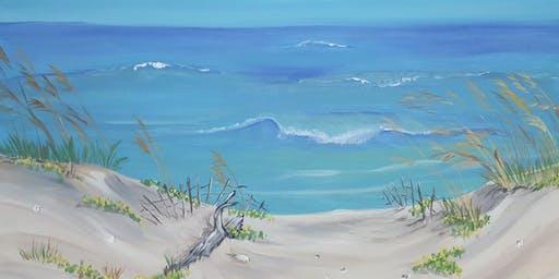 Beach theme Faith and Paint